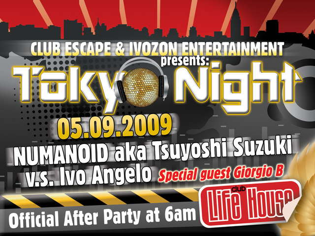 Party Flyer TOKYO NIGHT 5 Sep '09, 22:00
