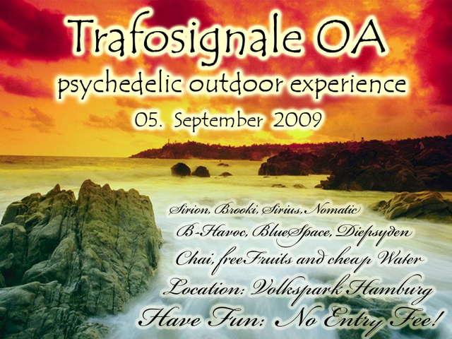 Party Flyer TRAFOSIGNALE OA 5 Sep '09, 15:00