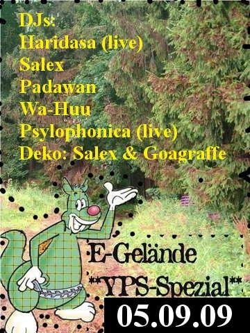 Party Flyer **Yps-Spezial** 5 Sep '09, 20:00
