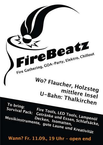 Party Flyer FireBeatz 11 Sep '09, 19:30
