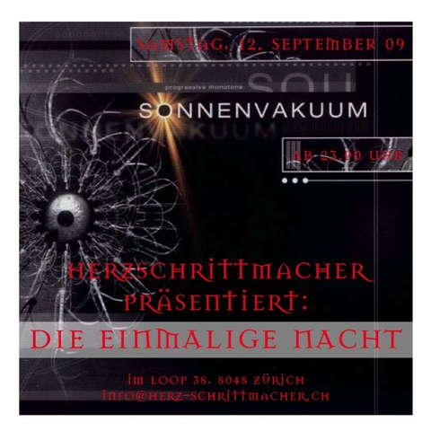 Party Flyer HERZSCHRITTMACHER präsentiert: DIE EINMALIGE NACHT 12 Sep '09, 23:00