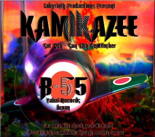 Party Flyer Kamikazee - B-55 (Yabai, Japan) 12 Sep '09, 17:00