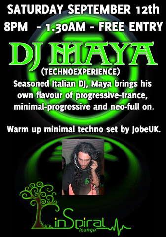 Party Flyer MAYA@Inspiral 12 Sep '09, 20:00
