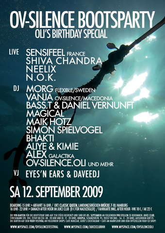 Party Flyer *** ov-silence Bootsparty - Oli's Birthday Special 12 Sep '09, 16:00