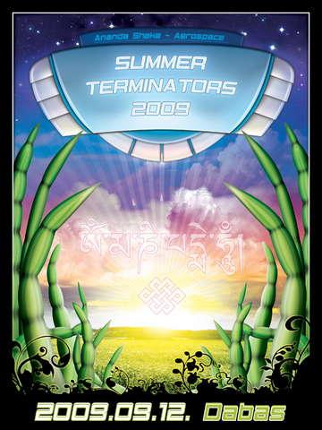Party Flyer Summer terminators (Ananda Shake, Aerospace, Y-east) 12 Sep '09, 22:00