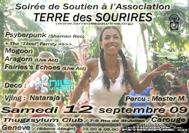 Party Flyer Terre des Sourires / Land of Smiles 12 Sep '09, 22:00