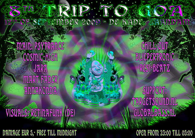 Party Flyer 8th trip to GOA 12 Sep '09, 23:00