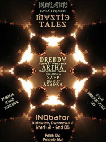 Party Flyer Mystic Tales 18 Sep '09, 21:00