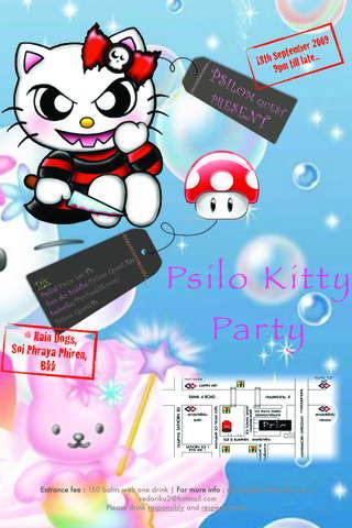 Party Flyer Psilo Kitty 18 Sep '09, 22:00