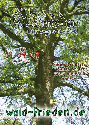 Party Flyer Waldfrieden on Tour im Forum 18 Sep '09, 23:00