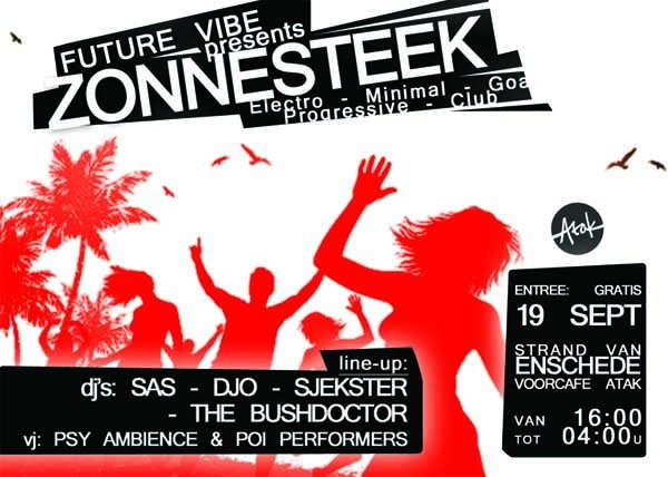 Party Flyer FutureVibes.presents.ZONNESTEEK.Goa.Minimal.Electro 19 Sep '09, 16:00