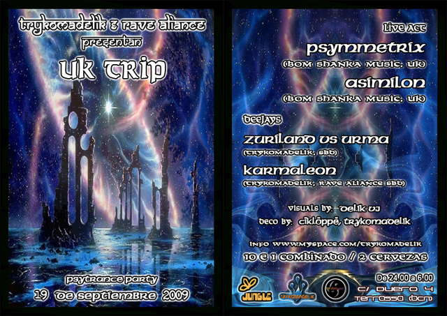 Party Flyer UK Trip@Trykomadelik 19 Sep '09, 23:30