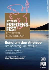 Party Flyer Attersee Friedensfest 20 Sep '09, 17:00
