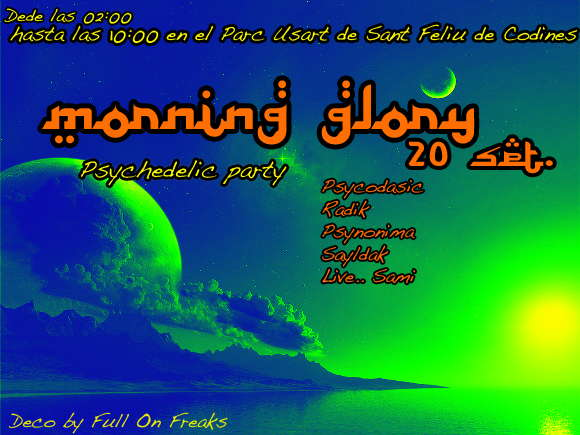 Party Flyer _____MoRniNg GloRy_____ 19 Sep '09, 23:30