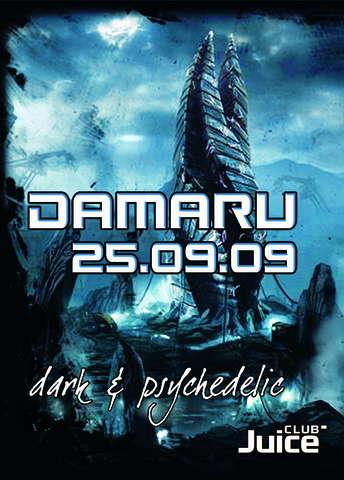 Party Flyer Damaru - Dark & Psychedelic 25 Sep '09, 23:00