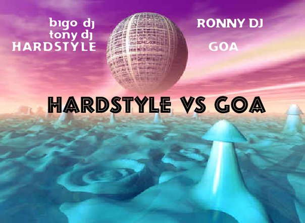 Party Flyer goa vs hardstyle night 25 Sep '09, 22:00