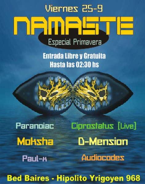 Party Flyer Namaste Spring Time 25 Sep '09, 23:30