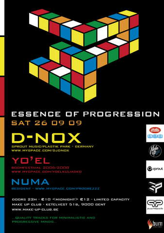 Party Flyer Essence of Progression 26 Sep '09, 22:00
