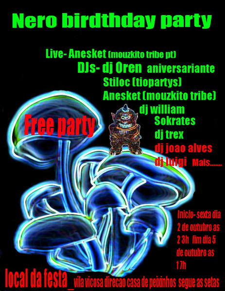 Party Flyer NERO BIRTHDAY PARTY 2 Oct '09, 23:30