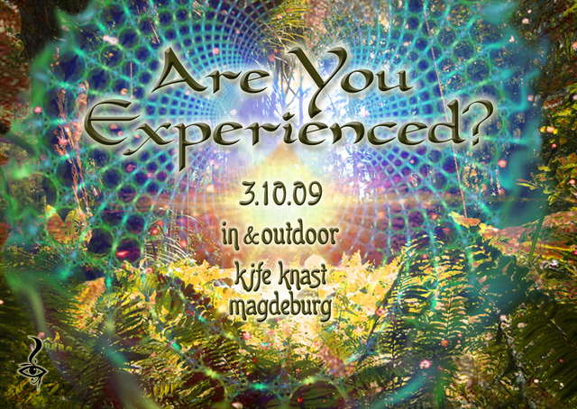 Party Flyer Are You Experienced ? * IN & OUTDOOR * TIMTABLE ONLINE * 3 Oct '09, 22:00