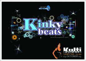 Party Flyer KINKY BEATS @ Kulti - EMOK / DUCA / KHAINZ Live 3 Oct '09, 22:00