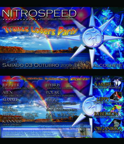 Party Flyer TRANCE LOVERS PARTY 3 Oct '09, 22:00