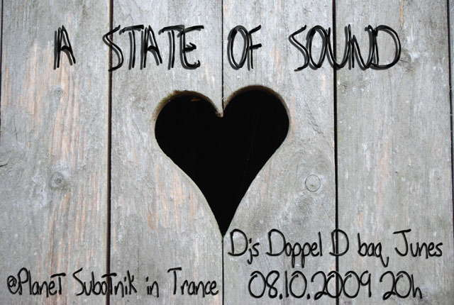 Party Flyer Planet Subotnik in Trance - A State Of Sound 8 Oct '09, 20:00