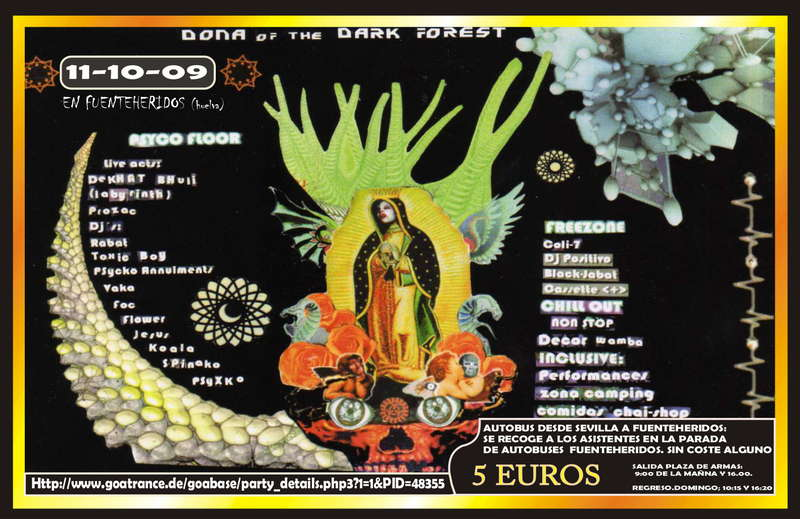 Party Flyer Donna of The Dark Forest 9 Oct '09, 23:30
