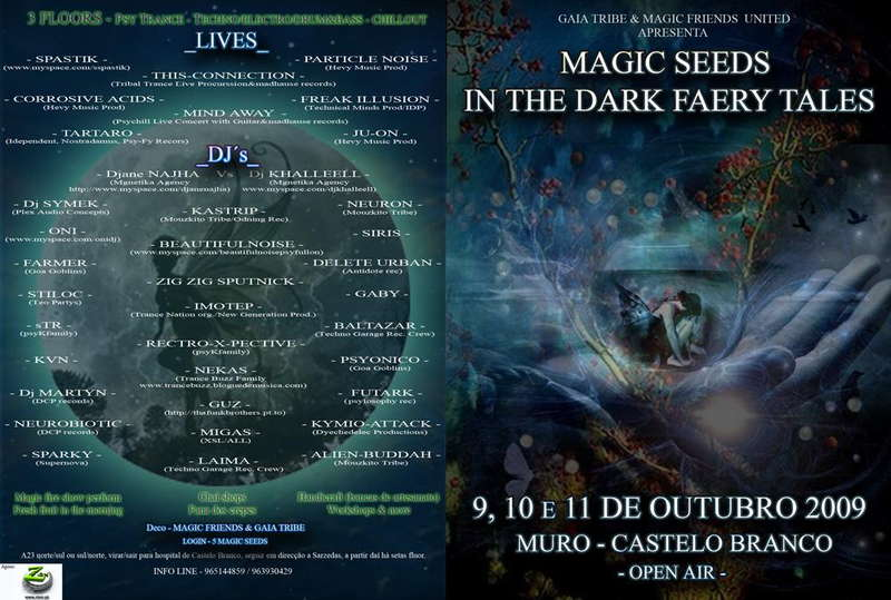 Party Flyer MAGIC SEEDS IN THE DARK FAERY TALES 9 Oct '09, 19:00