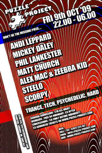 Party Flyer Puzzle Project 9 Oct '09, 22:00