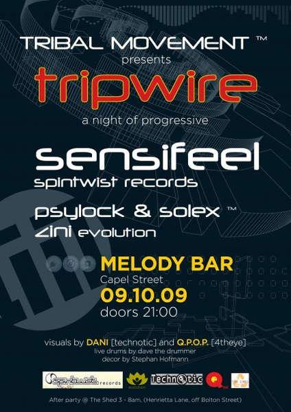 Party Flyer TRIPWIRE ™ 9 Oct '09, 21:00