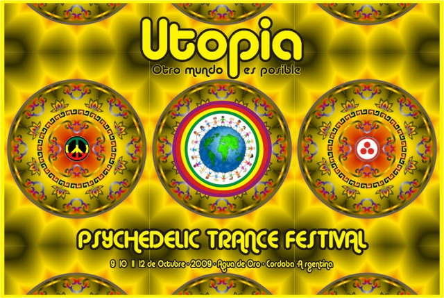 Party Flyer Utopia Psychedelic Trance Festival 9 Oct '09, 22:00