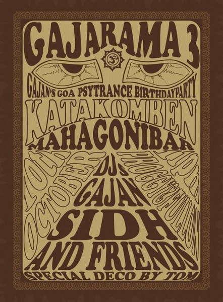 Party Flyer Gajarama 3 10 Oct '09, 23:00