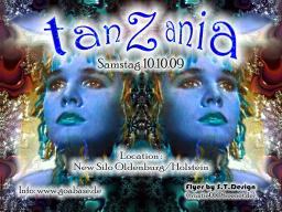 Party Flyer TanZania-wer feiern kann,kann auch spenden 10 Oct '09, 22:00