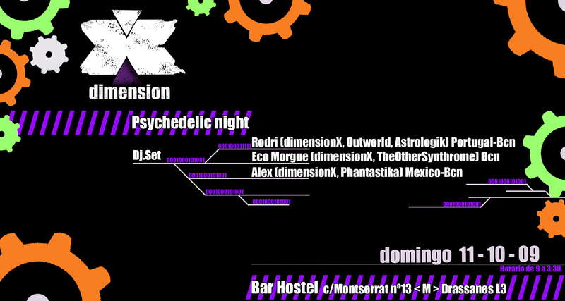 Party Flyer DIMENSION X 11 Oct '09, 21:00