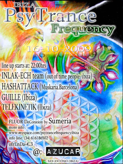 Party Flyer ibiza psytrance frequency 16 Oct '09, 22:00