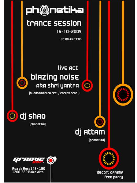 Party Flyer Phonetika Session @ Groove Bar 16 Oct '09, 22:30