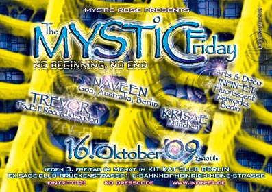 Party Flyer The Mystic Friday 16 Oct '09, 23:00