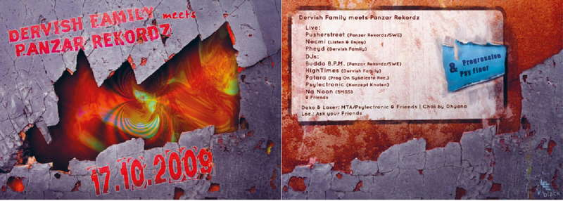 Party Flyer Dervish Family meets Panzar Records 17 Oct '09, 22:00