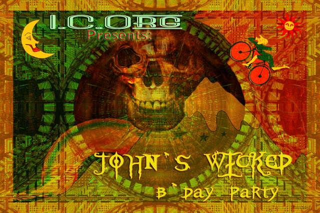 Party Flyer John Karton Wicked B-day 17 Oct '09, 22:00
