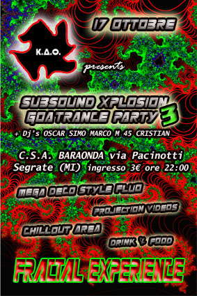 Party Flyer *** SUBSOUNDXPLOSION *** 3 17 Oct '09, 22:00