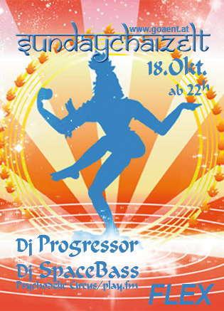 "Party Flyer SUNDAYCHAIZELT ""Viva Italia - Chillum Special"" 18 Oct '09, 22:00"
