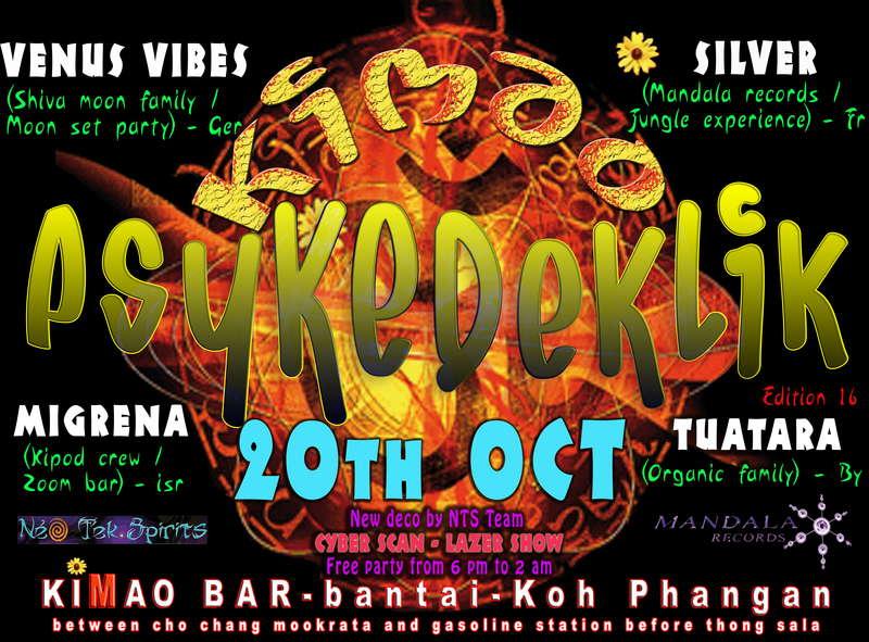 Party Flyer Psykedeklik 20 Oct '09, 18:00