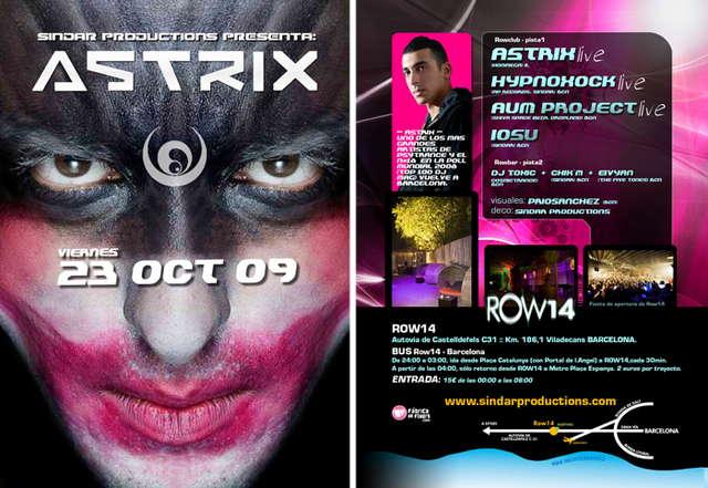 Party Flyer Sindar ::: ASTRIX is back ::: 23 Oct '09, 23:30