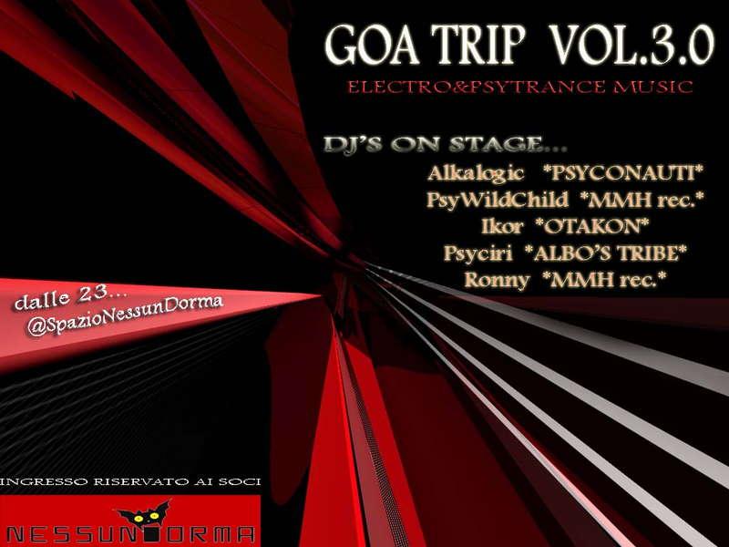 Party Flyer GOA TRIP act.3.0 23 Oct '09, 22:00