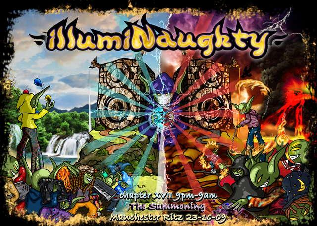 Party Flyer illumiNaughty Chapter XVII ~ The Summoning ~ 23 Oct '09, 21:00