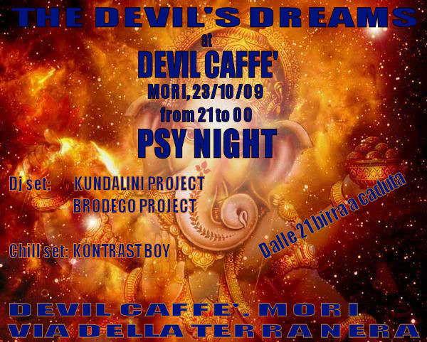 Party Flyer THE DEVIL'S DREAMS 23 Oct '09, 21:00