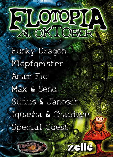 Party Flyer Flotopia 24 Oct '09, 22:00