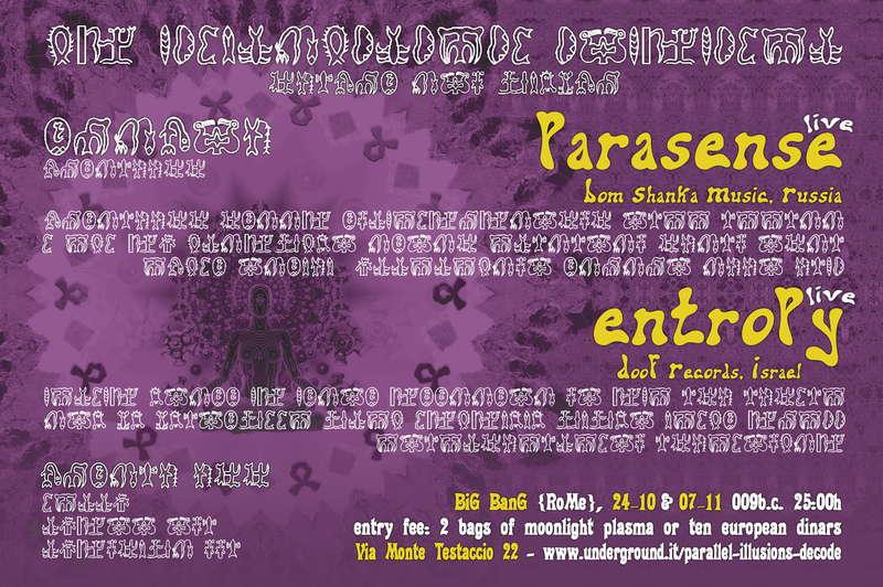 SHANTI! Parallel Illusions, Parasense Live 24 Oct '09, 23:30