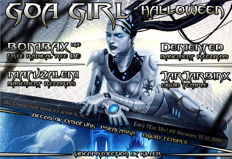 Party Flyer Goa Girl 6 - Halloween 30 Oct '09, 21:00